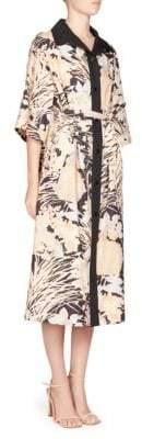 Dries Van Noten Floral Print Shirt Dress