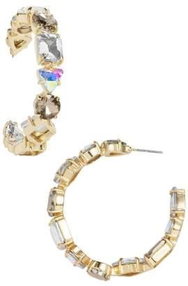 BaubleBar Isadora Faceted Hoop Earrings