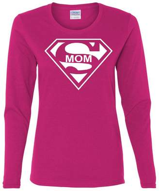 DAY Birger et Mikkelsen Tee Hunt Super Mom Funny Long Sleeve T-Shirt Superhero Parody Mother's 2XL