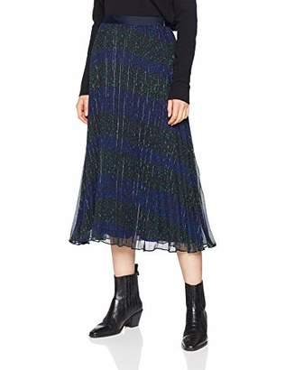 3a2dfa206f Tommy Hilfiger Women's Luna Midi Skirt Skirt, Black (Allover Star  PRT/Beauty 058