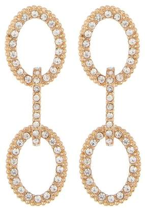 Ettika Pave Crystal Link Drop Earrings