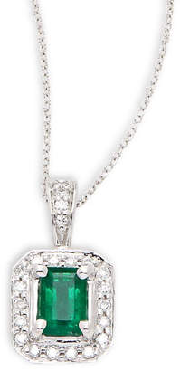Effy Fine Jewelry Diamond, Emerald & 14K Necklace