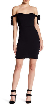 Socialite Off-the-Shoulder Tie Sleeve Dress $78 thestylecure.com