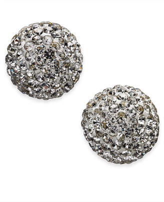 Kate Spade Gold-Tone Pave Orb Stud Earrings