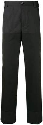 Lanvin mix pattern straight trousers