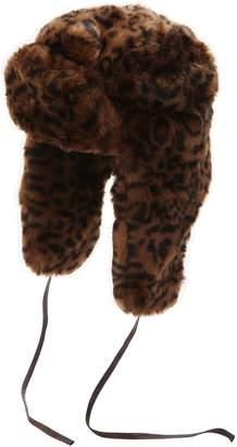 fcf362d56e7 Kangol Leopard Printed Faux Fur Trapper Hat