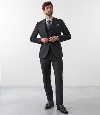 Reiss WARLORD WOOL MODERN FIT SUIT Charcoal