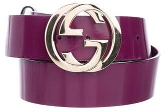 Gucci GG Patent Leather Belt