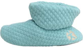 Bedroom Athletics Womens Taylor Knit Ankle Boot Slippers Aqua Marine
