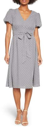 ModCloth Clip Dot Puff Sleeve Dress