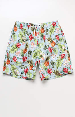 "Trunks Surf & Swim Hawaiian 17"" Swim Trunks"