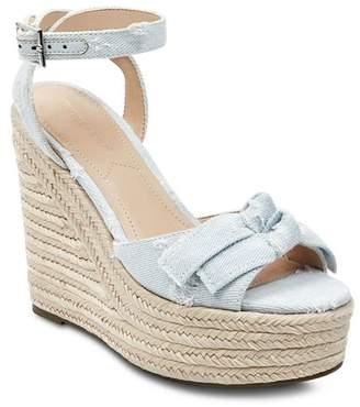 KENDALL + KYLIE Women's Gwenn2 Denim Espadrille Platform Wedge Sandals