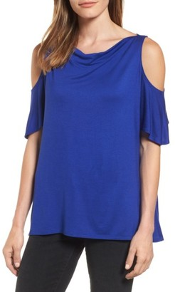 Women's Michael Stars Cold Shoulder Top $78 thestylecure.com