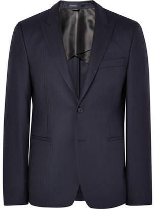 Acne Studios Blue Stanford Slim-Fit Herringbone Wool Suit Jacket