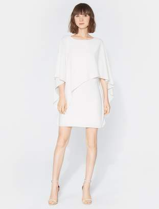 Halston Asymmetrical Drape Dress