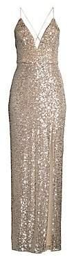 Aidan Mattox Women's Sequin Column Gown
