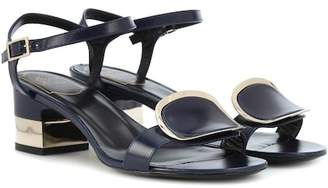 Roger Vivier Chips West Buckle leather sandals