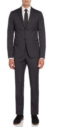 John Varvatos Two-Piece Grey Stripe Suit
