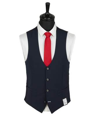 Remus Uomo Luca Waistcoat Colour: NAVY, Size: 36R