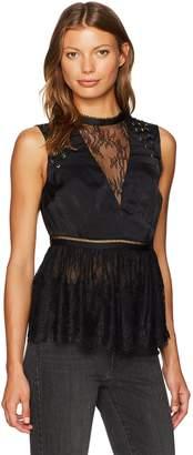 GUESS Women's Sleeveless Vera Lace Top