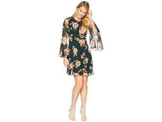 Donna Morgan Lurex Chiffon Fit and Flare Dress