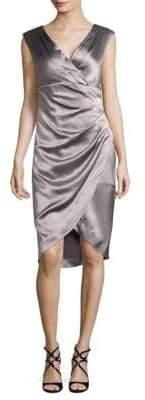 Kay Unger Satin Sheath Dress