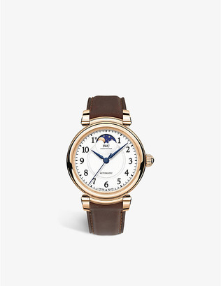 IWC IW459308 Da Vinci Moon Phase 36 18ct rose-gold and alligator leather watch