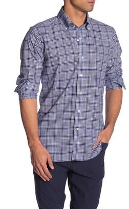 Peter Millar Seabound Chambray Plaid Regular Fit Shirt