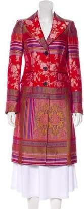 Etro Jacquard Knee-Length Coat