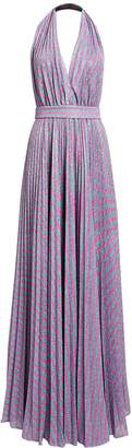Philosophy di Lorenzo Serafini Lurex Striped Halter Gown