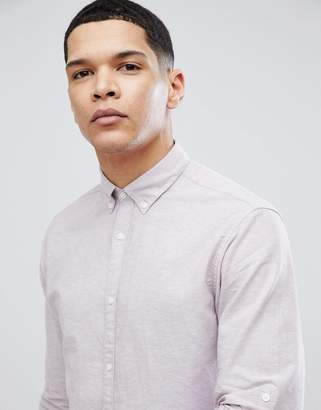 Jack and Jones Slim Fit Shirt In Linen Mix