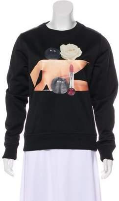 Acne Studios Graphic Scoop Neck Sweatshirt