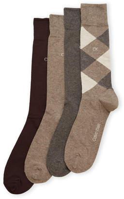 Calvin Klein 4-Pack Diamond Crew Socks