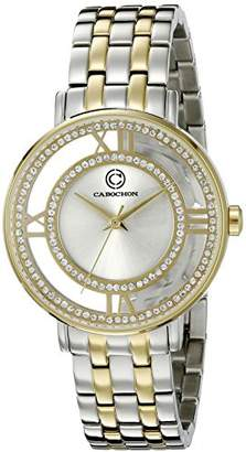 Cabochon Women's 80288-SG-02S Carnival Analog Display Quartz Two Tone Watch