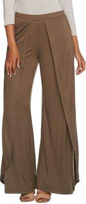 Halston H By H by Petite Fly Away Jersey Wide Leg Pants