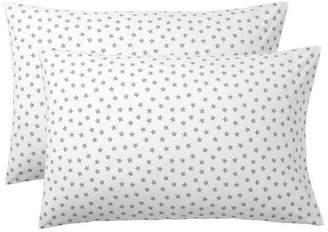 Pottery Barn Teen The Emily & Meritt Faceted Stars Sheet Set, Extra Pillowcases, Set of 2, Ivory