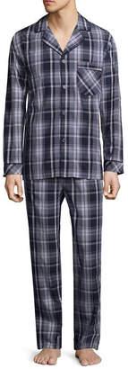 STAFFORD Stafford Mens Pant Pajama Set 2-pc. Long Sleeve