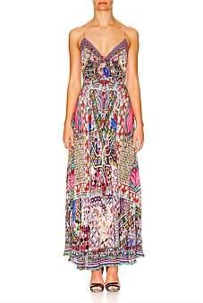 Camilla Long Dress W/ Tie Front-Kalbelia Queen