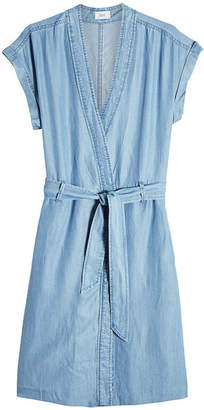 Closed Chambray Dress with Belt Tie