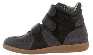 Maison Margiela High-Top Suede Sneakers $200 thestylecure.com