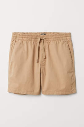 H&M Cotton Shorts Relaxed fit - Beige