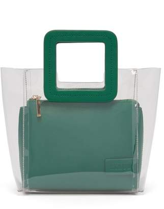 Staud - Mini Shirley Pvc And Leather Tote Bag - Womens - Green