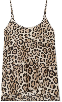 ATM Anthony Thomas Melillo Leopard-print Silk-charmeuse Camisole - Leopard print