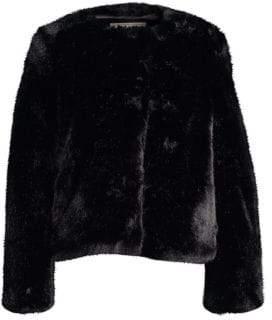 Milly Boxy Faux-Fur Jacket