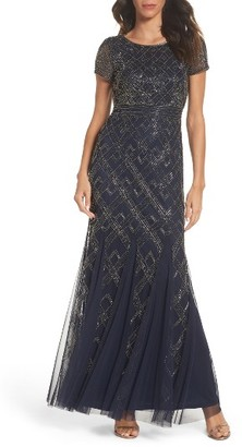 Women's Adrianna Papell Beaded Gown $349 thestylecure.com
