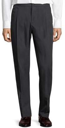 Salvatore Ferragamo Men's Drawstring-Waist Stretch-Cotton Pleated Sport Pants