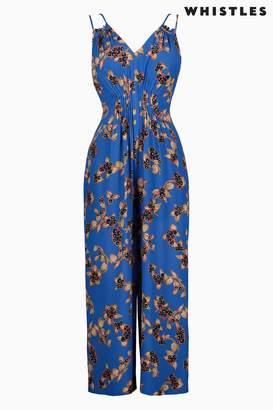 975ff7049d at Next · Next Womens Whistles Blue Capri Print Jumpsuit