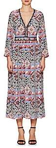 L'Agence WOMEN'S ROSALIA PAISLEY SILK MAXI DRESS SIZE 4