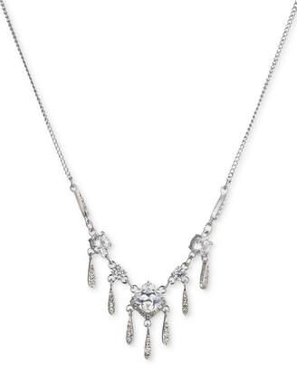 Carolee Silver-Tone Cubic Zirconia Statement Necklace