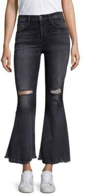 3x1 Higher Ground Distressed Crop Flare Jeans